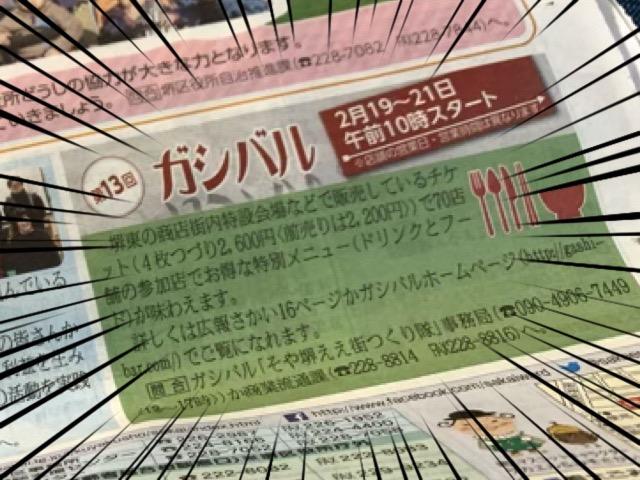 2019年堺東で開催される「ガシバル」の情報の写真。