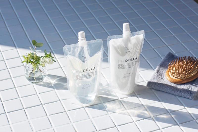 【メデュラ クーポン】オーダーメイドシャンプーMEDULLAの2度目以降の購入時のパッケージの写真