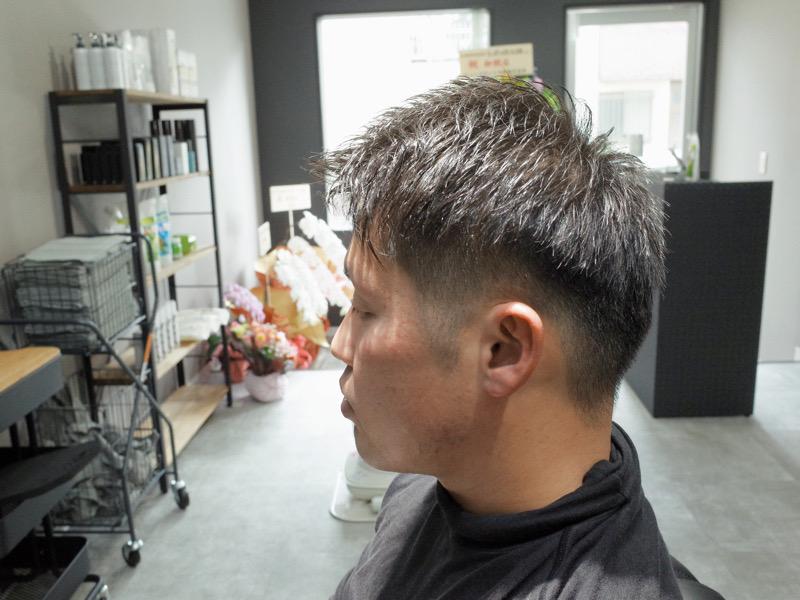 大阪の堺でカットしたツーブロックベリーショートの髪型の写真