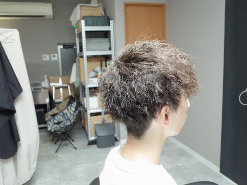 大阪の堺でカットしたツイストパーマの髪型の写真