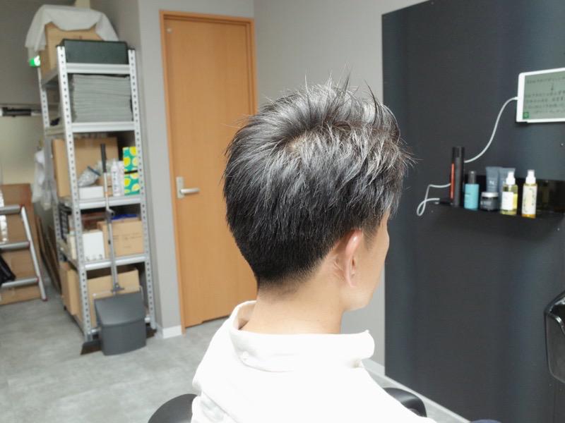 大阪の堺でカットしたラフな七三ビジネスヘアの写真