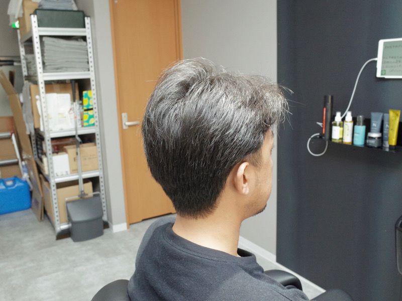 大阪の堺市でカットしたツーブロックの髪型の写真