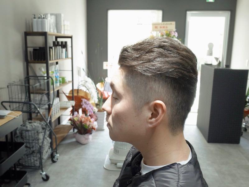 大阪の堺でカットしたバーバースタイルビジネスヘアの髪型の写真