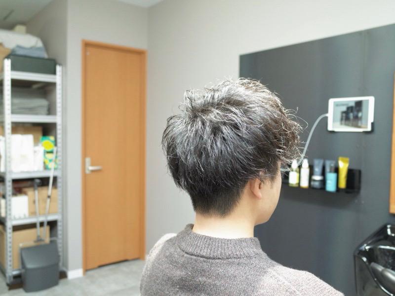 大阪の堺でカットしたツイストスパイラルの髪型の写真