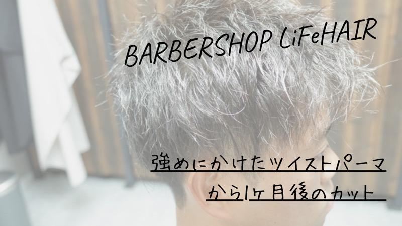 強めにかけたツイストパーマから1ヶ月後のカット【大阪 堺】というブログのタイトル画像