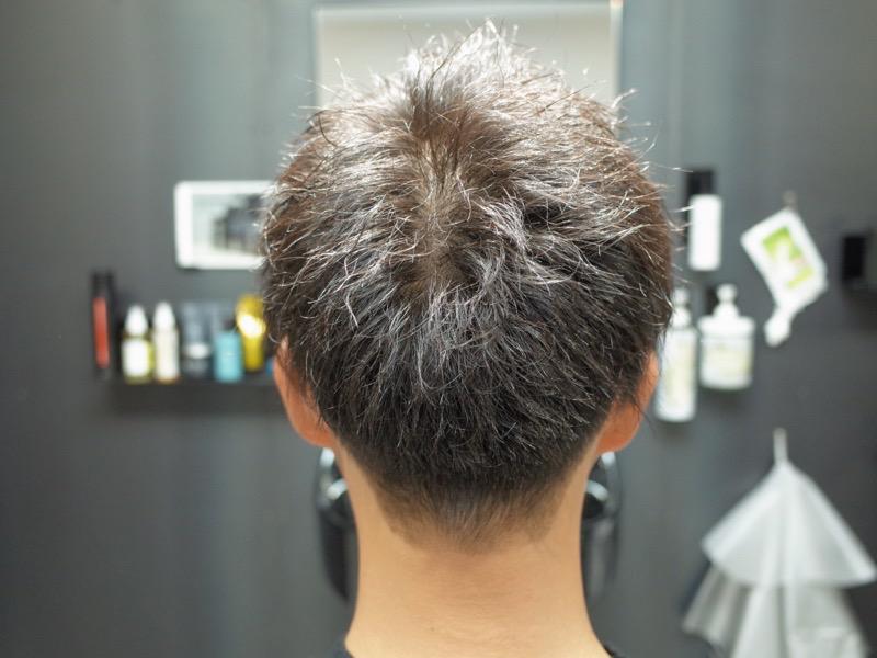 大阪府堺市でかけたツイストパーマの髪型の後ろから見た写真