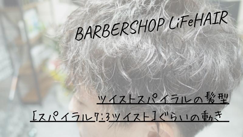 ツイストスパイラルの髪型[スパイラル7:3ツイスト]ぐらいの動き【大阪 堺】というブログのタイトル画像