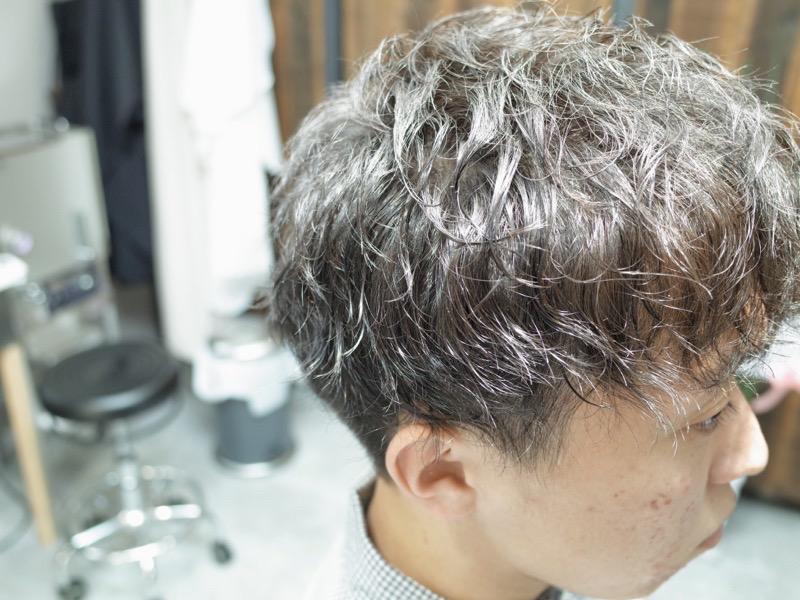 大阪府堺市でかけたメンズツイストスパイラルの髪型の紹介写真