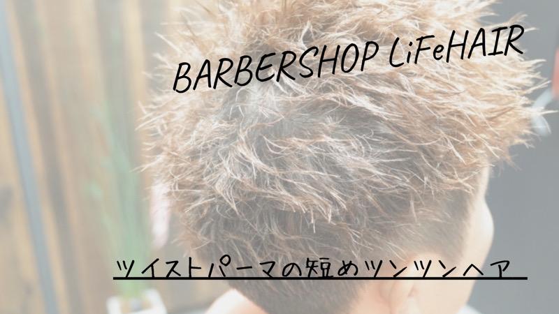 ツイストパーマの短めツンツンヘア【大阪 堺】というブログのタイトル画像