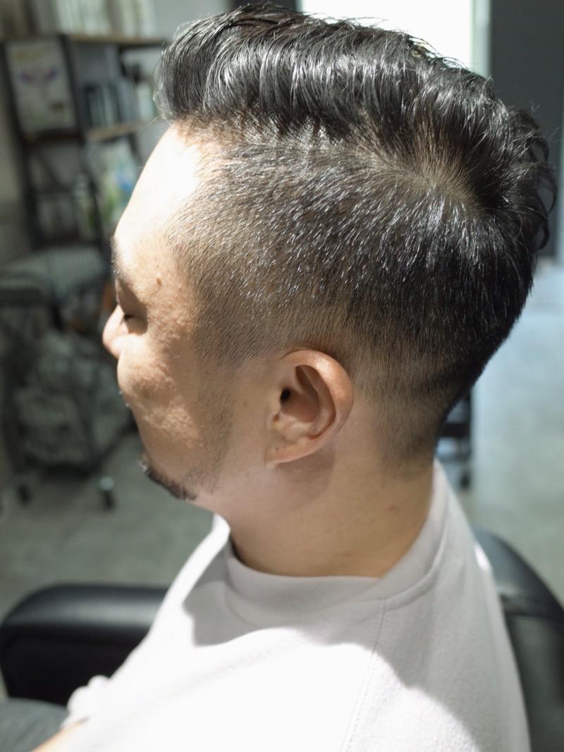 大阪府堺市でカットしたメンズツイストスパイラルの髪型の写真