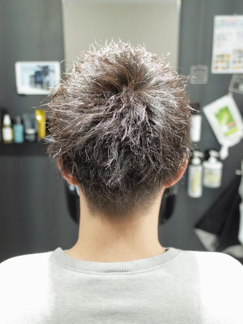 大阪府堺市でカットしたメンズツイストの髪型の写真