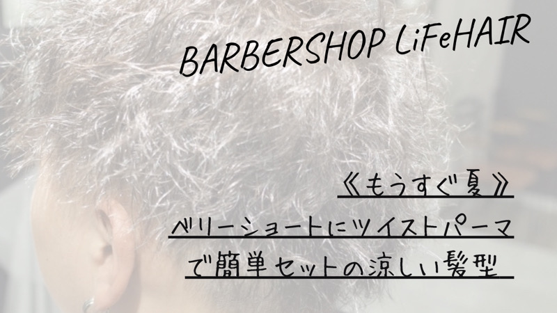 《もうすぐ夏》ベリーショートにツイストパーマで簡単セットの涼しい髪型【大阪 堺 泉州】というブログのタイトル画像